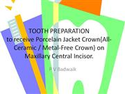 tooth preparation for all-ceramic crowns