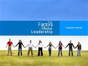 four-factors-of-effective-leadership-draft