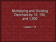Adding and Subtracting Decimals1