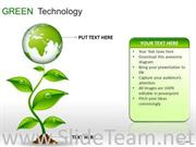 GLOBES GREEN TECHNOLOGY ICONS POWERPOINT SLIDES