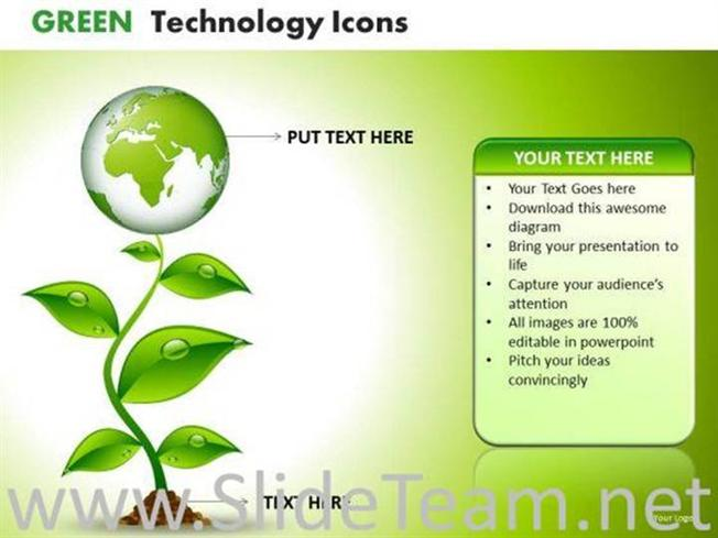 Green Growth Nature Environment Ppt Slides Powerpoint Diagram