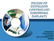subdermal implan-t controlled release