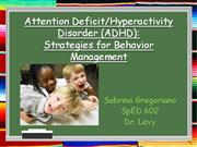 ADHD powerpoint