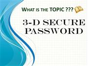 3D Secure Password
