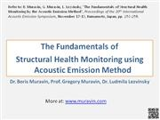 Muravin - Structural Health Monitoring using AE method - 2010