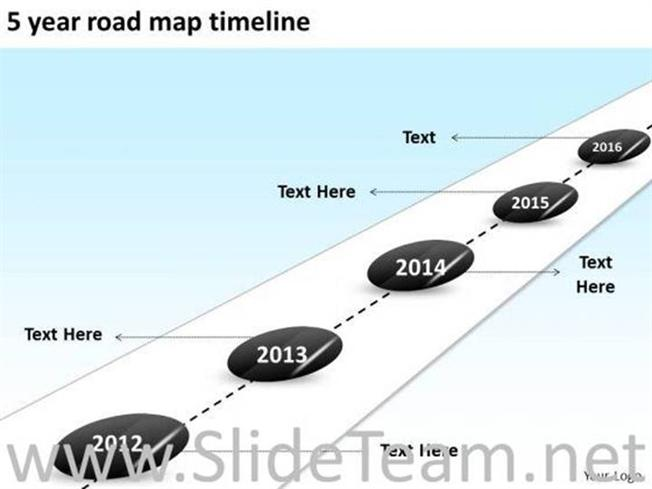 5 year road map timeline ppt slides powerpoint diagram related powerpoint templates toneelgroepblik Image collections