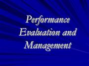 Performance Evaluation and Management