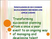 Succession Management Methods