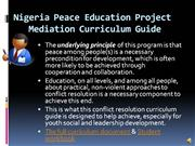 II Nigeria Peace Education Project narrated