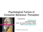 Psychological Factors Perception