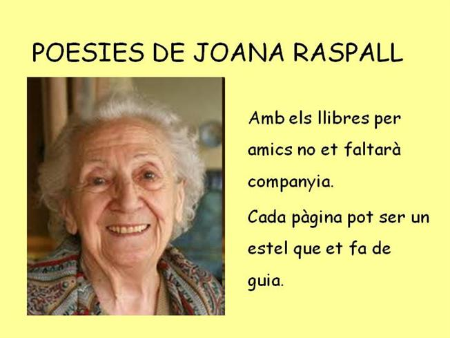 Poesies De Joana Raspall Authorstream