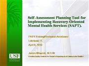 Self-Assessment Planning Tool SAPT