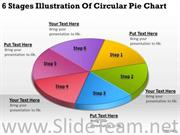 6 STAGES OF CIRCULAR PIE CHART PPT SLIDES