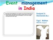 Event  management  in India