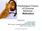 Psychological Factors Motivation