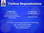 Carbon Sequestration- An Intro