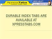 Durable Index Tabs Are Available At XpressTabs.com