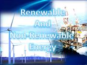 Physics Renewable and non renewable resources