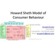 Howard Sheth Model of Consumer Behaviour