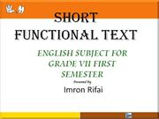 short functional text