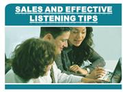 sales and effective listening tips