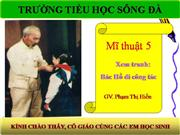 bai 25  Xem tranh Bac Ho di cong tac