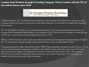 london sash window draught proofing company warns london and the uk