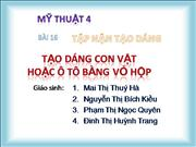 bai 16 tap nan tao dang tao dang con vat