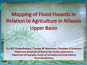 Mapping flood hazards in Relation to agriculture in Nilwala upper basi