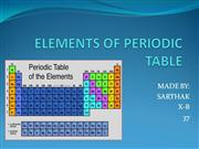 ELEMENTS OF PERIODIC TABLE