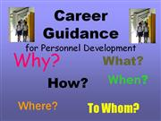 Career Guidance for Zonal Directors