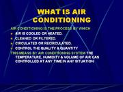 Basics for Air Conditioning
