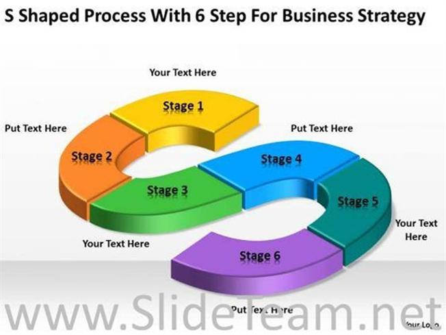 6 step for business strategy ppt slides powerpoint diagram