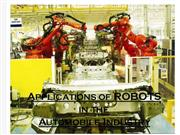 use of robots in automobile engineering