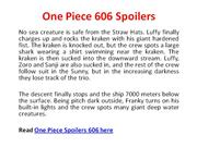 One Piece 606 Spoilers by mymangaspoilers.com