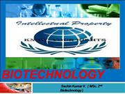 IPR in biotechnology