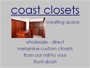 Coast Closets: National Wholesale Custom Closets-2