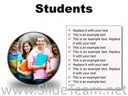 GROUP OF STUDENTS EDUCATION POWERPOINT PRESENTATION SLIDES C