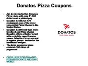 Donatos Pizza Coupons