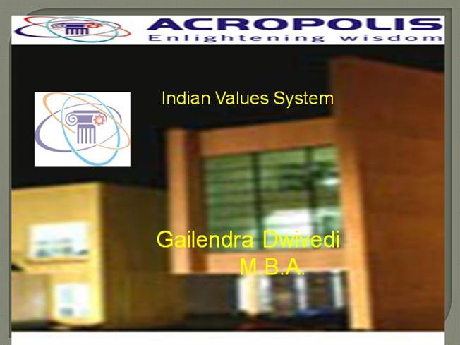PPT on Indian Culture And Values |authorSTREAM