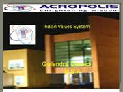 ppt of Indian Values System