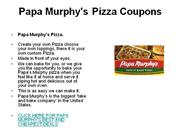 Papa Murphy's Pizza Coupons
