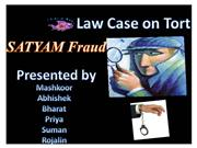 law case on satyam fraud...