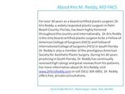 (561) 304-0001 - Kris M. Reddy MD FACS - Facelift