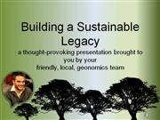 building a sustainable legacy