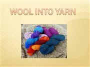 wool into yarn