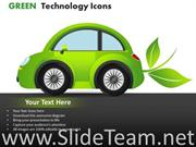 CARS GREEN TECHNOLOGY ICONS POWERPOINT SLIDES