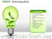 CONCEPT GREEN TECHNOLOGY BULB POWERPOINT SLIDES