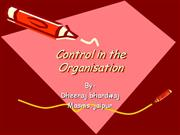 Control of organisation