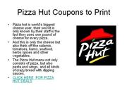 pizza hut coupons to print